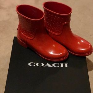 Coach Low Cut Signature Rain Boots